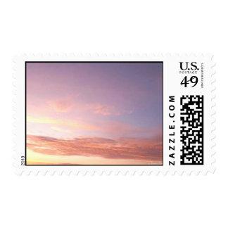 Pink Clouds N' Purple Sky Postage Stamps
