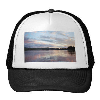 Pink Clouds Over Forked Lake Trucker Hats