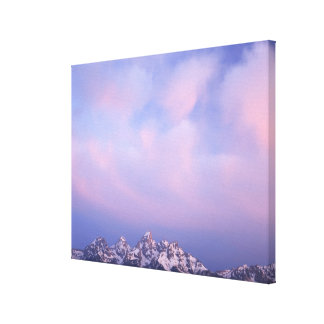Pink Clouds Over the Teton Range 2 Canvas Print