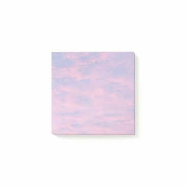 Beach Themed Pink Clouds Post-it Notes