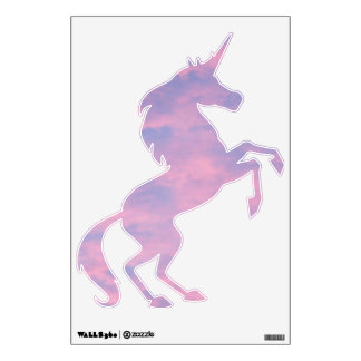 Pink Clouds Unicorn Design (Right) Wall Decal