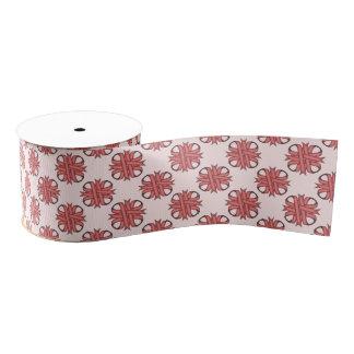 Pink Clover Ribbon