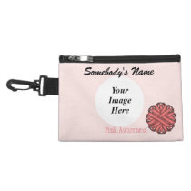 Pink Clover Ribbon Accessory Bag
