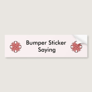 Pink Clover Ribbon Bumper Sticker