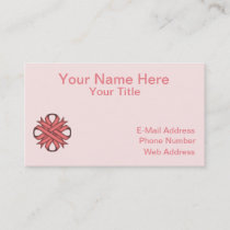 Pink Clover Ribbon Business Card