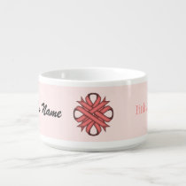 Pink Clover Ribbon by Kenneth Yoncich Bowl