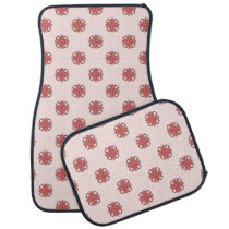 Pink Clover Ribbon by Kenneth Yoncich Car Floor Mat