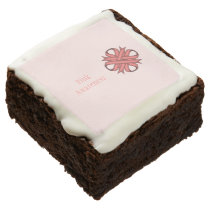 Pink Clover Ribbon by Kenneth Yoncich Chocolate Brownie