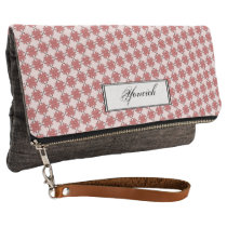 Pink Clover Ribbon by Kenneth Yoncich Clutch