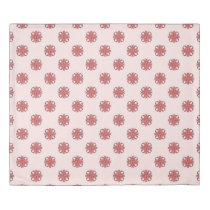 Pink Clover Ribbon by Kenneth Yoncich Duvet Cover