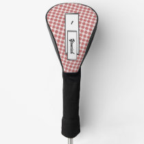Pink Clover Ribbon by Kenneth Yoncich Golf Head Cover