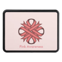Pink Clover Ribbon by Kenneth Yoncich Hitch Cover