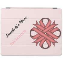 Pink Clover Ribbon by Kenneth Yoncich iPad Smart Cover
