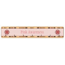 Pink Clover Ribbon by Kenneth Yoncich Key Holder