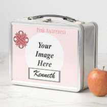 Pink Clover Ribbon by Kenneth Yoncich Metal Lunch Box