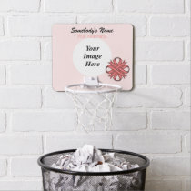 Pink Clover Ribbon by Kenneth Yoncich Mini Basketball Hoop