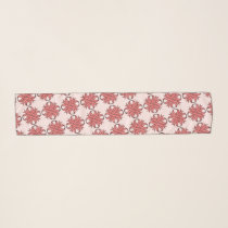 Pink Clover Ribbon by Kenneth Yoncich Scarf