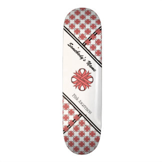 Pink Clover Ribbon by Kenneth Yoncich Skateboard Deck