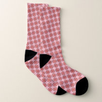 Pink Clover Ribbon by Kenneth Yoncich Socks