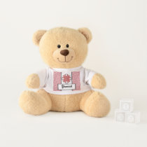 Pink Clover Ribbon by Kenneth Yoncich Teddy Bear