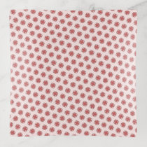 Pink Clover Ribbon by Kenneth Yoncich Trinket Trays