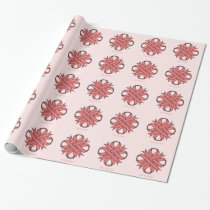 Pink Clover Ribbon by Kenneth Yoncich Wrapping Paper