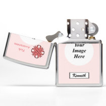 Pink Clover Ribbon by Kenneth Yoncich Zippo Lighter