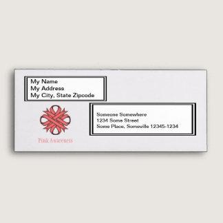 Pink Clover Ribbon Envelope