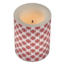 Pink Clover Ribbon Flameless Candle