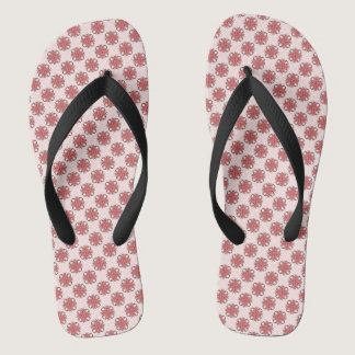 Pink Clover Ribbon Flip Flops