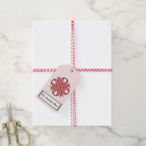 Pink Clover Ribbon Gift Tags