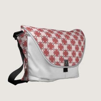 Pink Clover Ribbon Messenger Bag