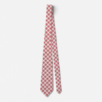 Pink Clover Ribbon Neck Tie