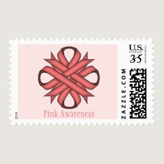 Pink Clover Ribbon Postage