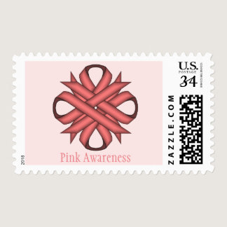 Pink Clover Ribbon Postage
