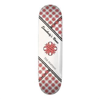 Pink Clover Ribbon Skateboard Deck