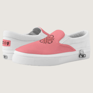 Pink Clover Ribbon Slip-On Sneakers
