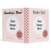 Pink Clover Ribbon Template Binder
