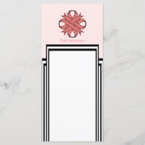 Pink Clover Ribbon Template by Kenneth Yoncich