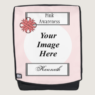 Pink Clover Ribbon Template by Kenneth Yoncich Backpack