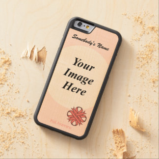 Pink Clover Ribbon Template by Kenneth Yoncich Carved® Maple iPhone 6 Bumper Case