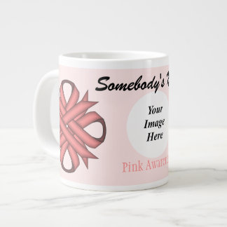 Pink Clover Ribbon Template by Kenneth Yoncich Giant Coffee Mug