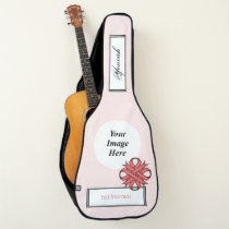 Pink Clover Ribbon Template by Kenneth Yoncich Guitar Case