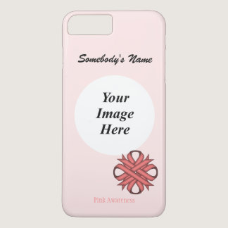 Pink Clover Ribbon Template by Kenneth Yoncich iPhone 7 Plus Case