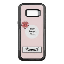 Pink Clover Ribbon Template by Kenneth Yoncich OtterBox Commuter Samsung Galaxy S8  Case