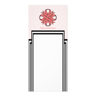 Pink Clover Ribbon Template by Kenneth Yoncich Rack Card