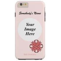 Pink Clover Ribbon Template by Kenneth Yoncich Tough iPhone 6 Plus Case