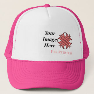 Pink Clover Ribbon Template by Kenneth Yoncich Trucker Hat