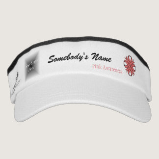 Pink Clover Ribbon Template by Kenneth Yoncich Visor
