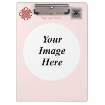 Pink Clover Ribbon Template Clipboard